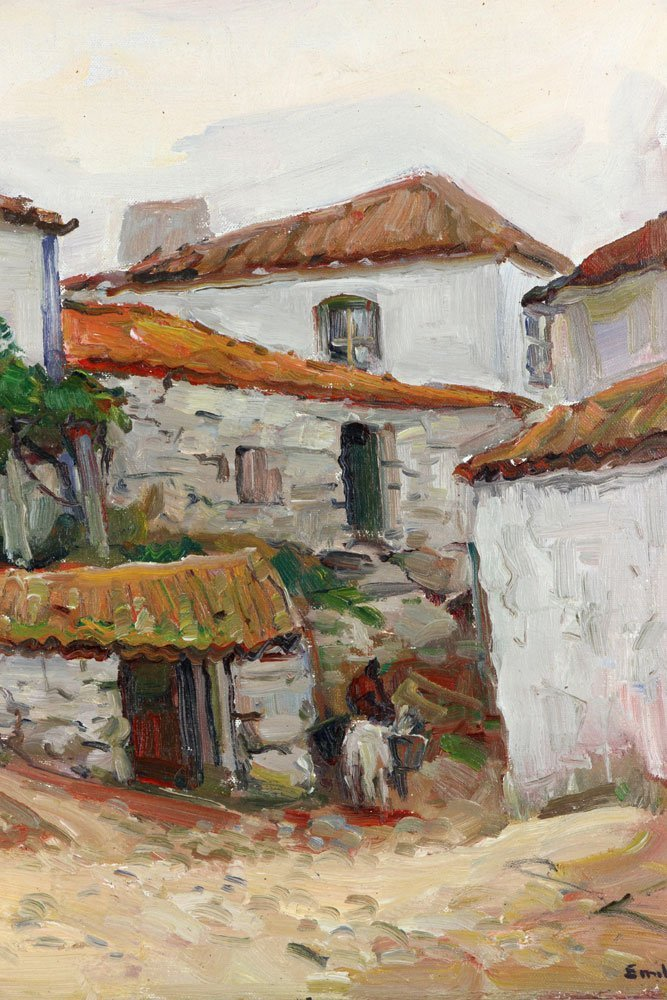 "E. Gruppe, ""Carvoeiro, Portugal,"" Oil on Canvas - 4"