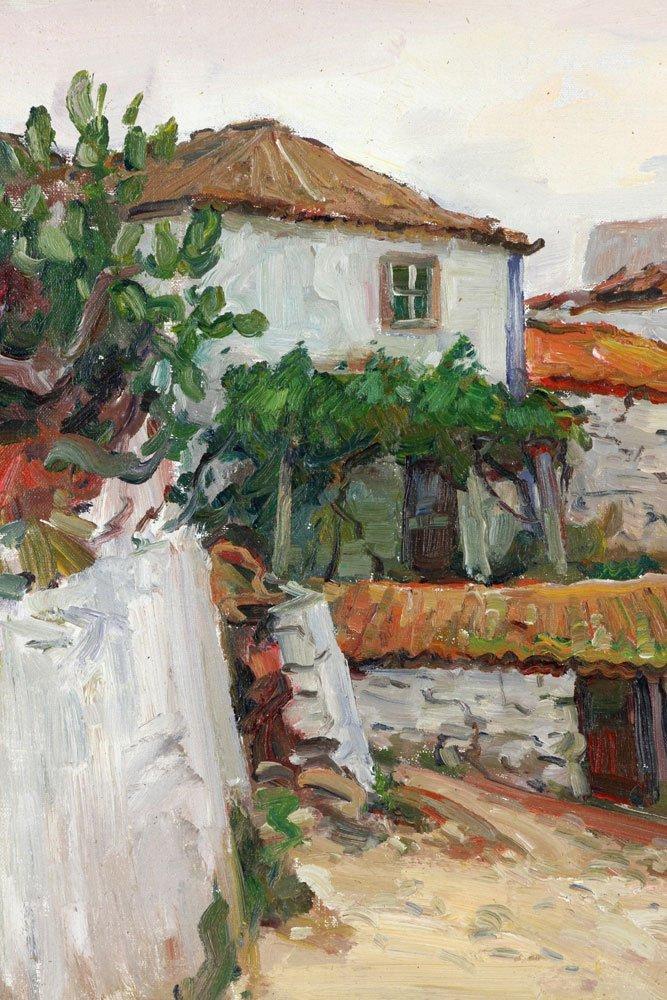 "E. Gruppe, ""Carvoeiro, Portugal,"" Oil on Canvas - 5"