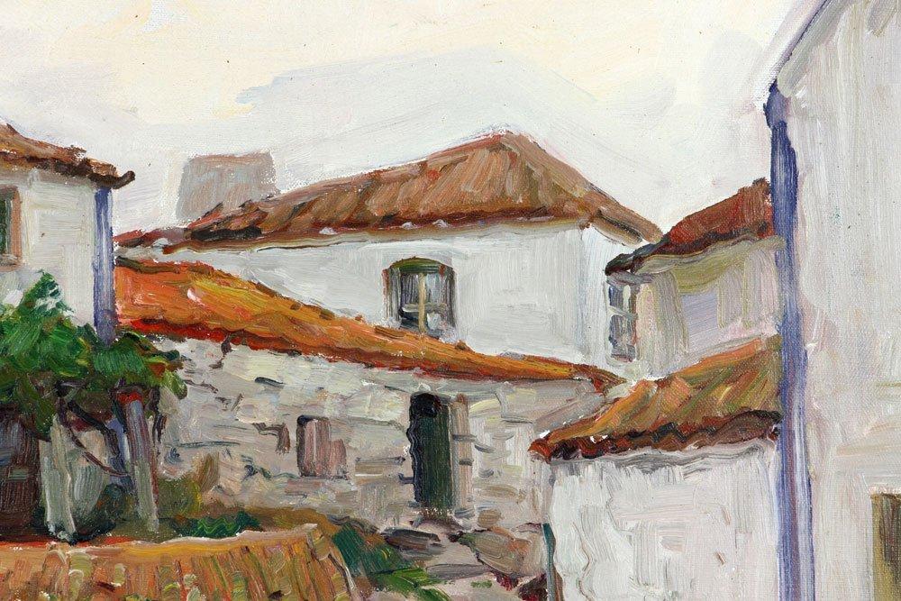 "E. Gruppe, ""Carvoeiro, Portugal,"" Oil on Canvas - 6"