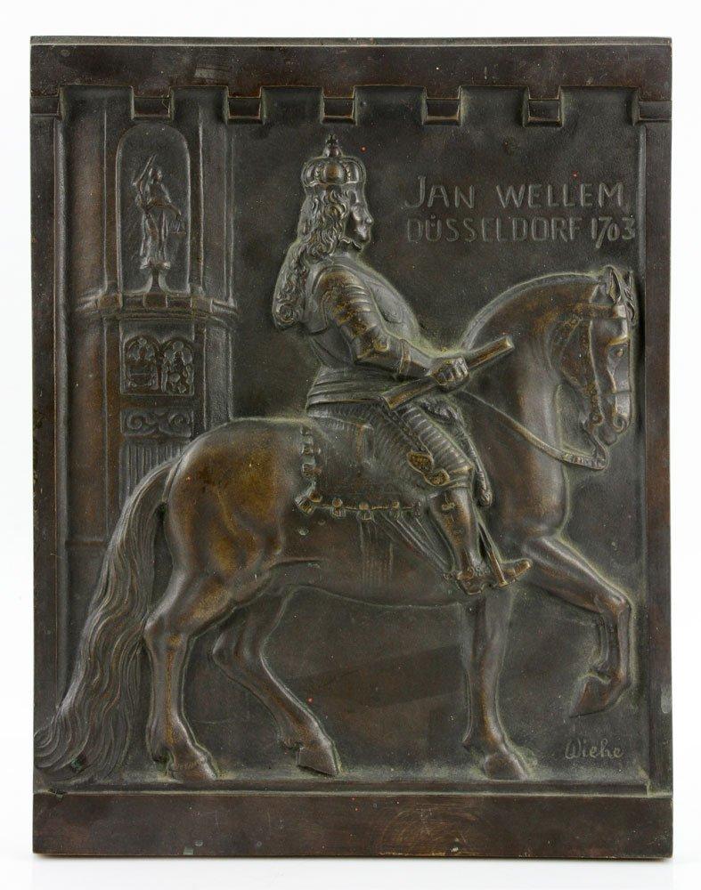 Wilhelm 18th C. Bronze Plaque