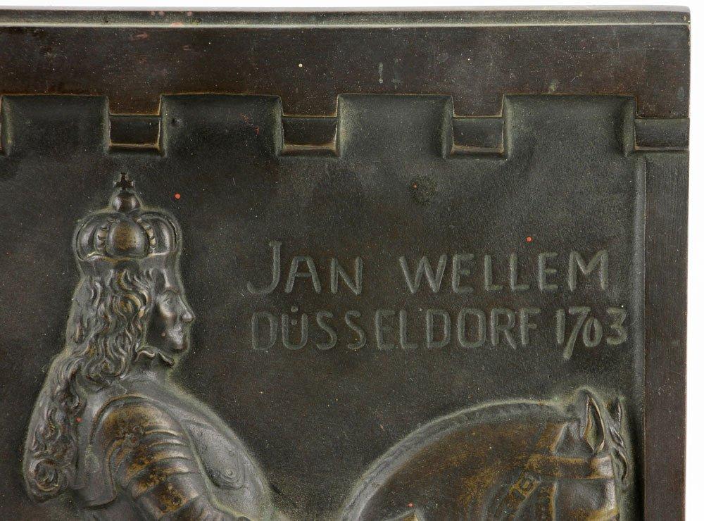 Wilhelm 18th C. Bronze Plaque - 3