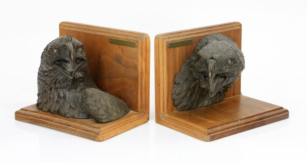 Pair of Bronze Bookends - 2