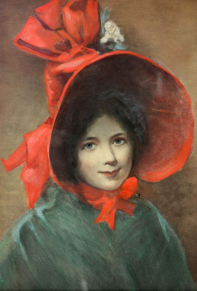 "Hamilton, ""An Old Fashioned Girl,"" Watercolor - 4"