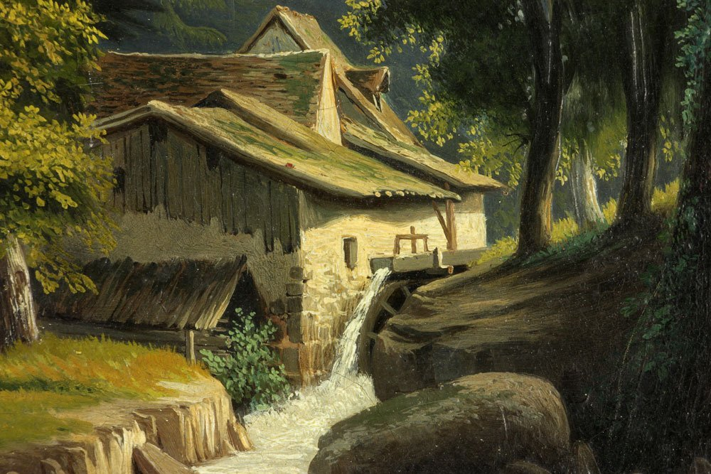 Postello, Mill and Landscape, Oil on Canvas - 7