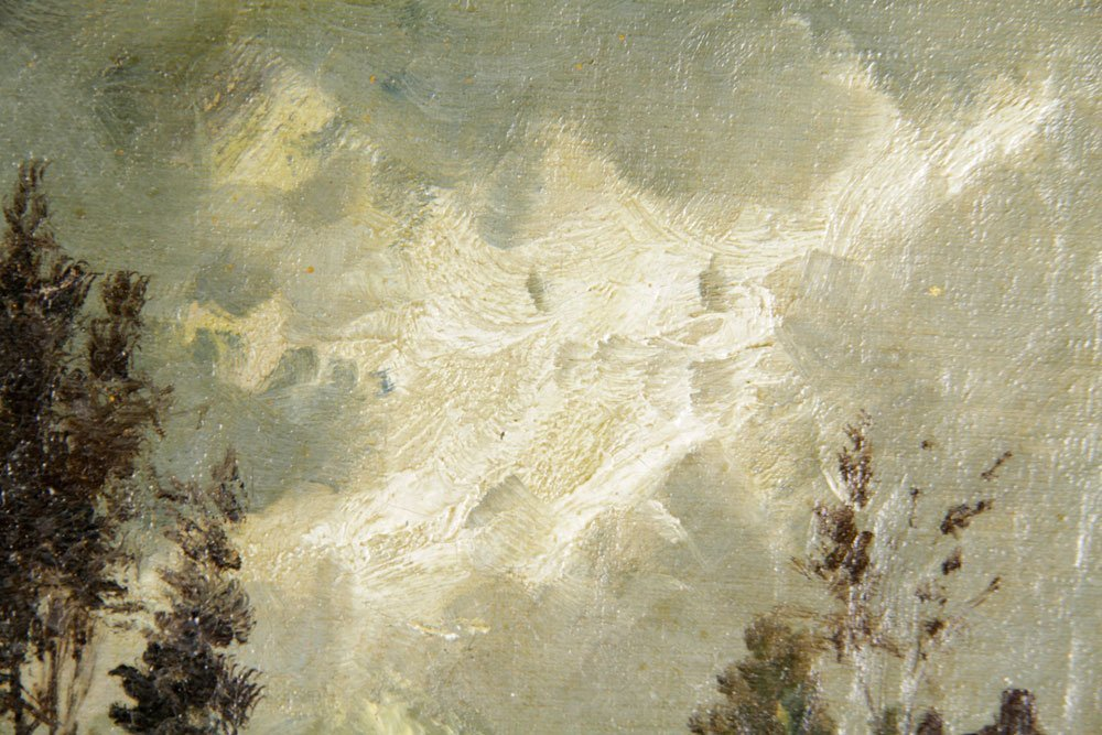 Continental School, Traveler, Oil on Canvas - 7