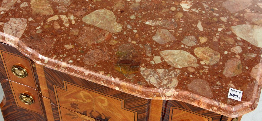 Pr. Marble Topped Stands - 6