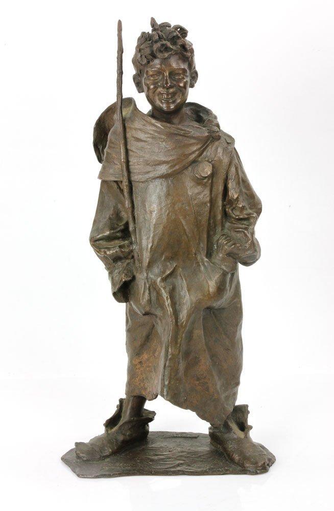 Renda, Statuette of Boy, Bronze