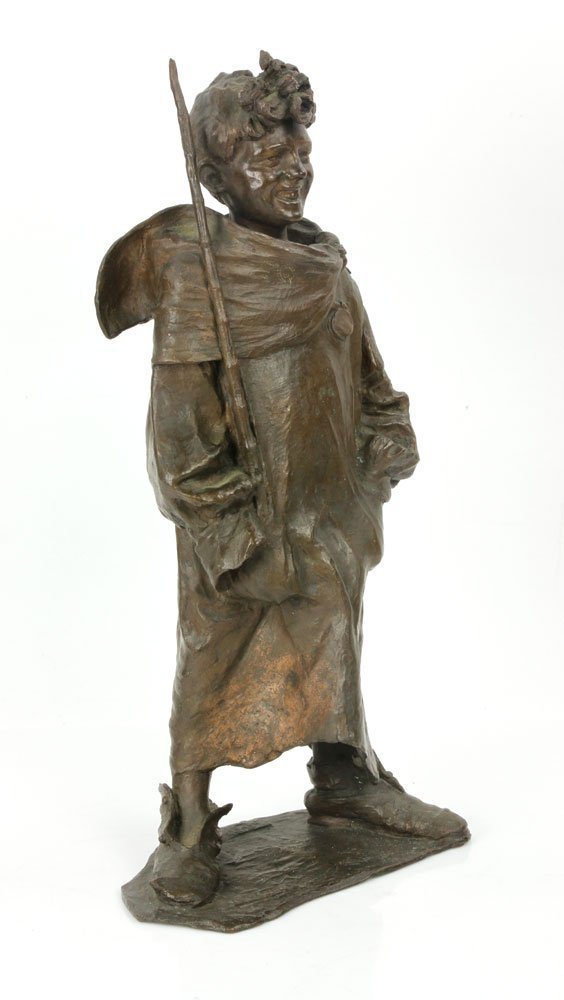 Renda, Statuette of Boy, Bronze - 2