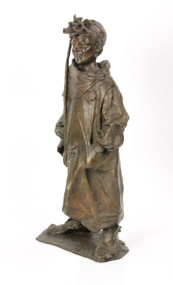 Renda, Statuette of Boy, Bronze - 3