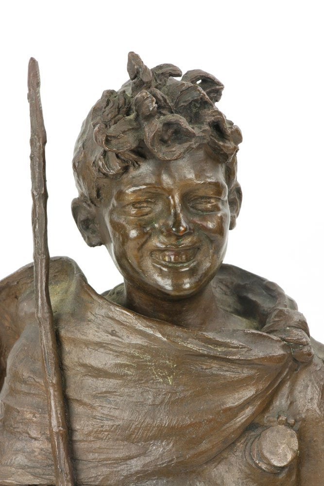 Renda, Statuette of Boy, Bronze - 6