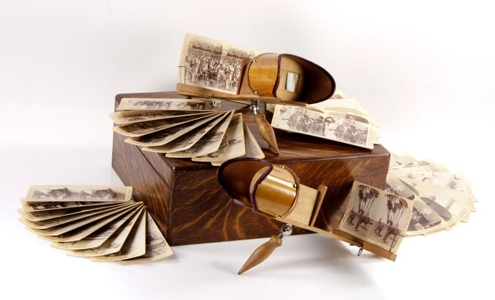 Holmes Stereoscopes with Case and Cards