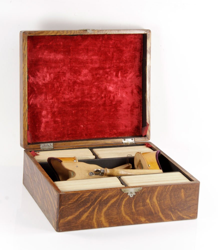 Holmes Stereoscopes with Case and Cards - 3