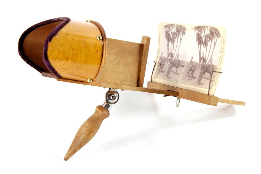 Holmes Stereoscopes with Case and Cards - 5