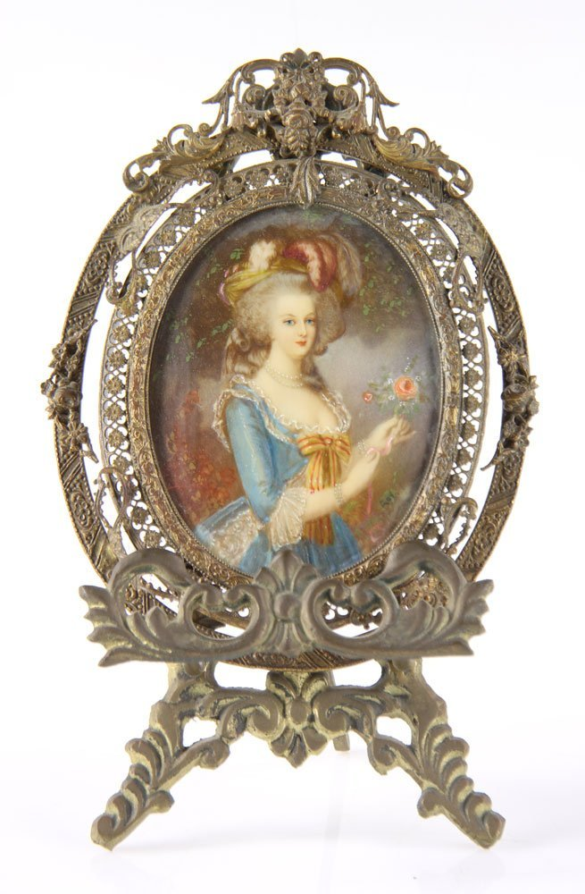 Miniature Portrait of Marie Antoinette