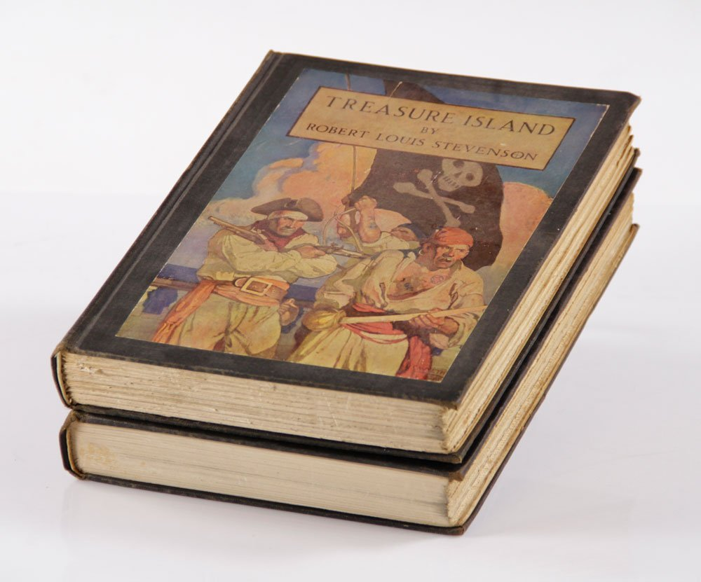 Two R. L. Stevenson Illustrated Books