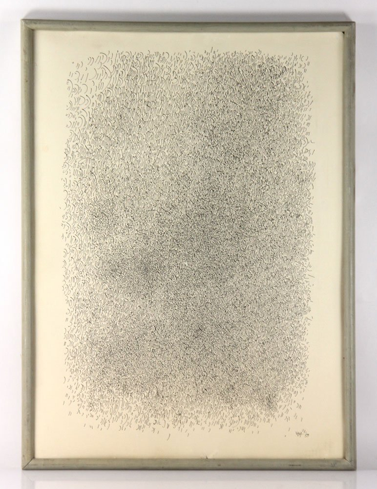 """Wilke, """"Music To Be Seen,"""" Ink on Paper"""