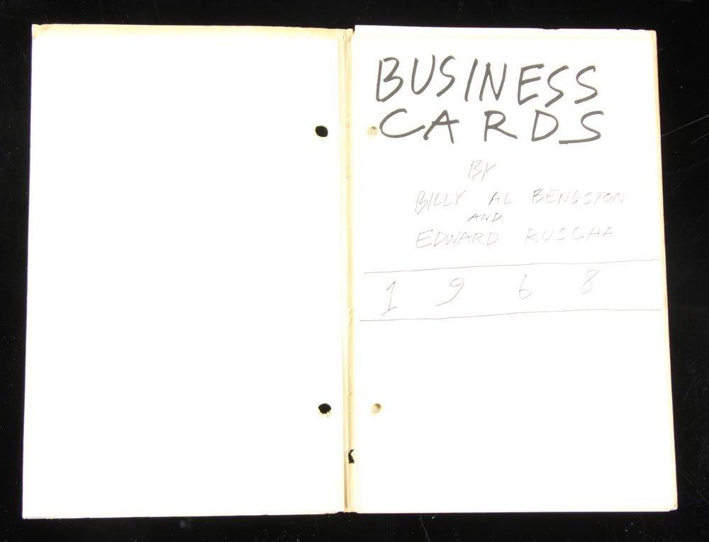 "Ruscha and Bengston, ""Business Cards,"" Folio - 2"