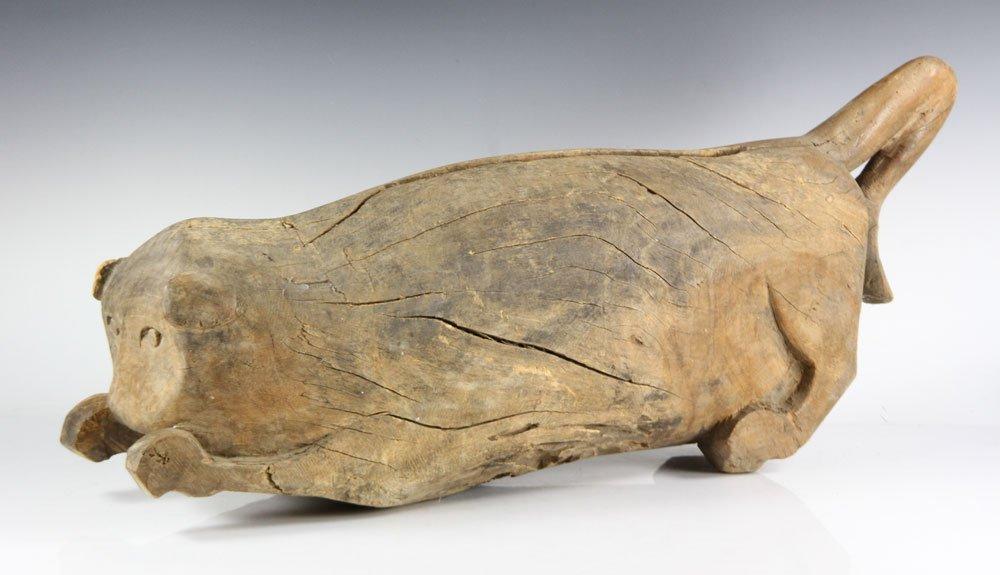 Folk Art Carved Cat