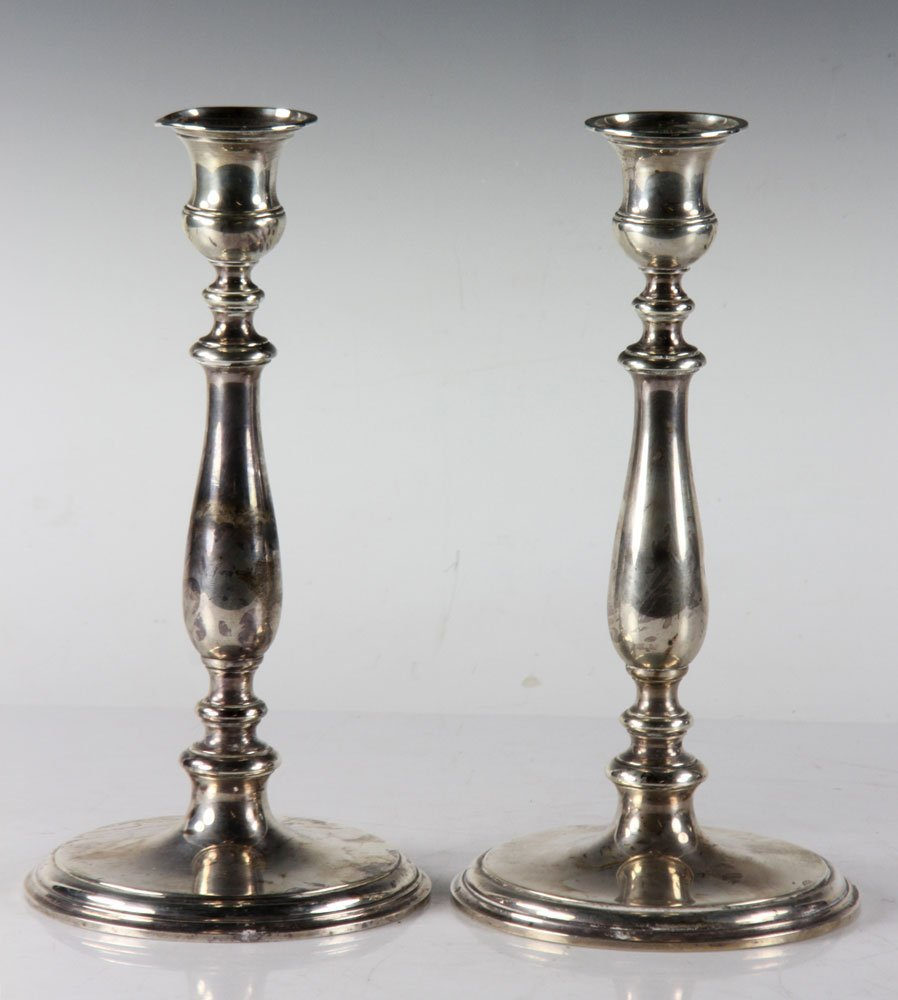 Pair of Tiffany & Co. Silver Candlesticks