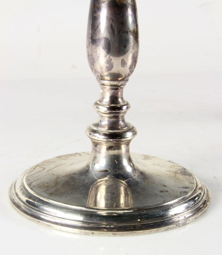 Pair of Tiffany & Co. Silver Candlesticks - 3
