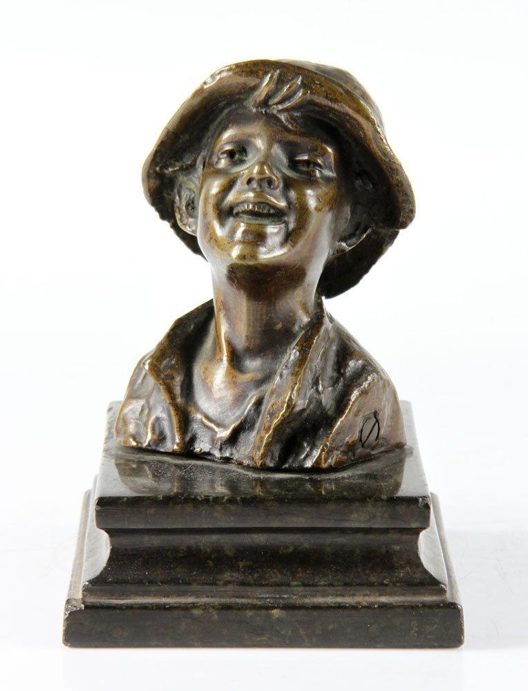 Italian Sculpture of Boy, Bronze