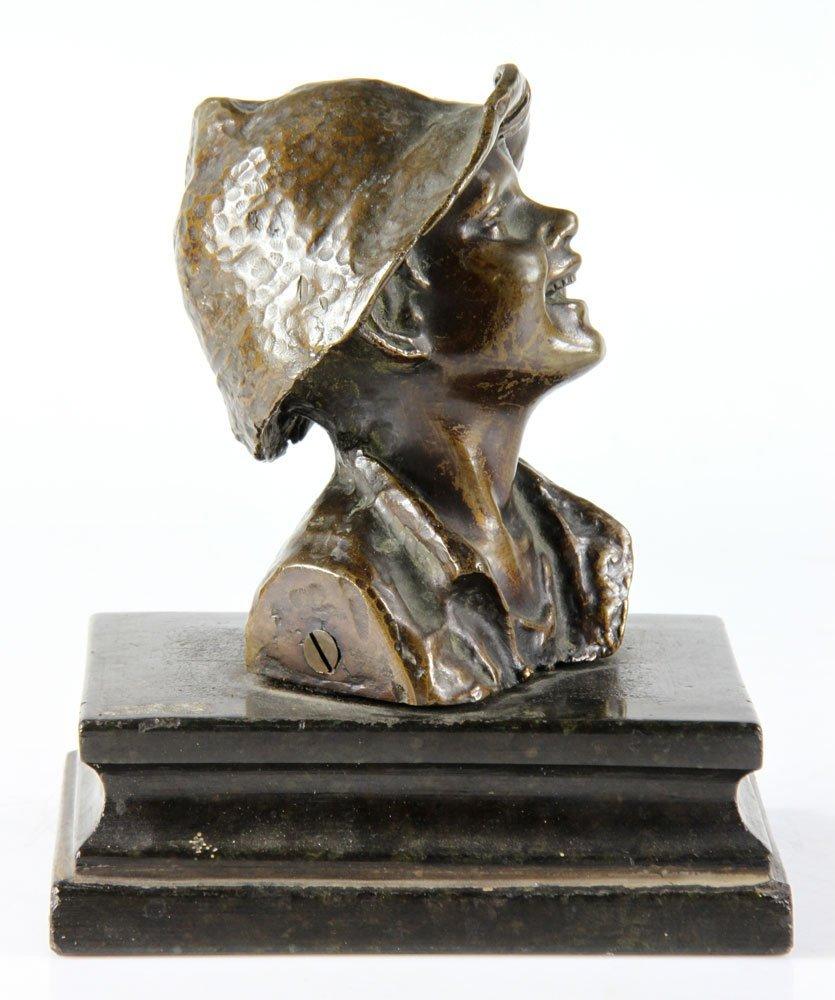 Italian Sculpture of Boy, Bronze - 4