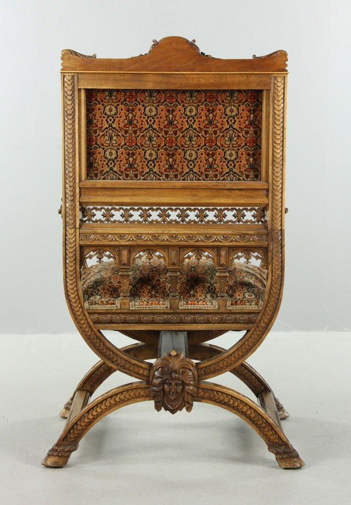 Carved Ram Head Chair - 5