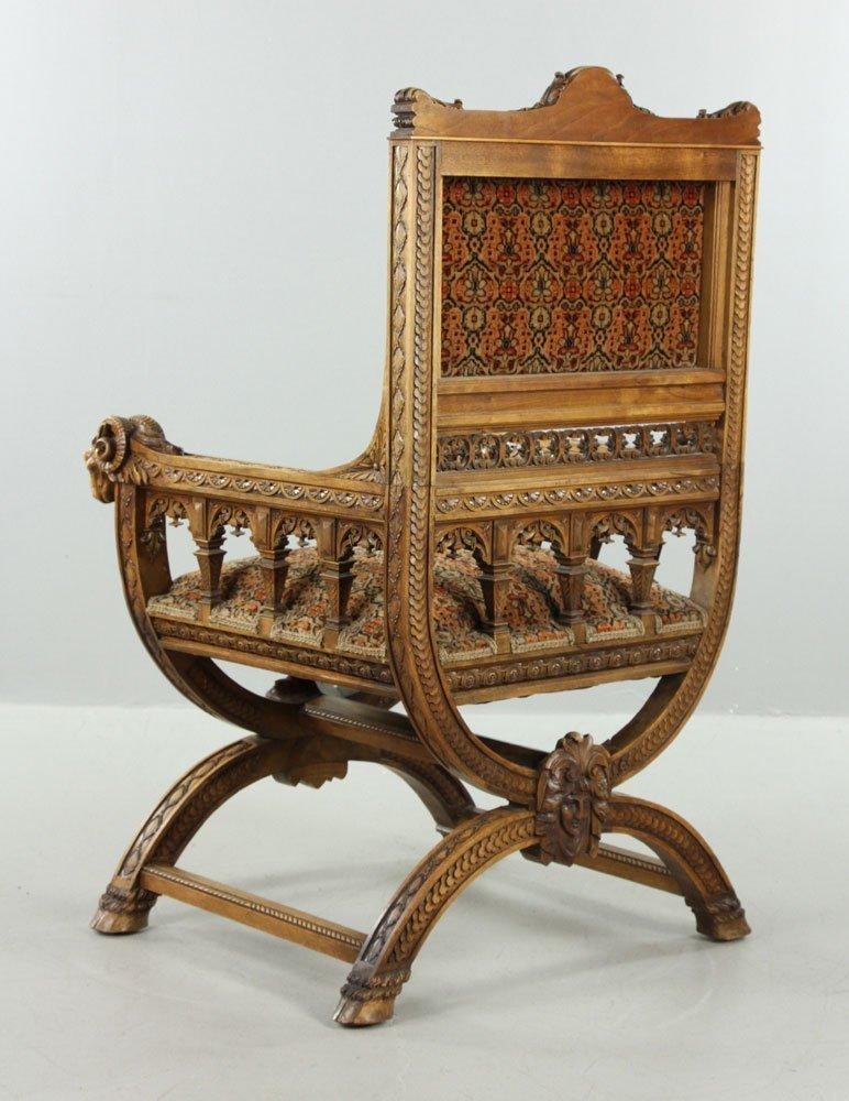 Carved Ram Head Chair - 6