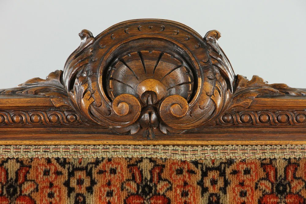 Carved Ram Head Chair - 9