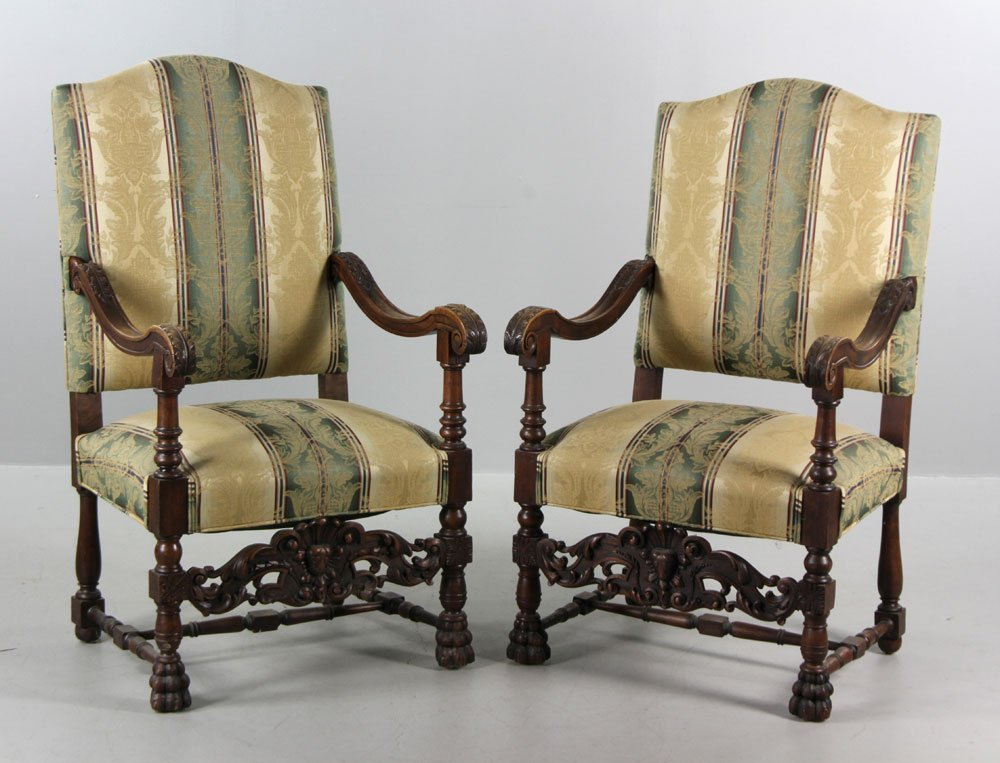 Antique Continental Armchairs