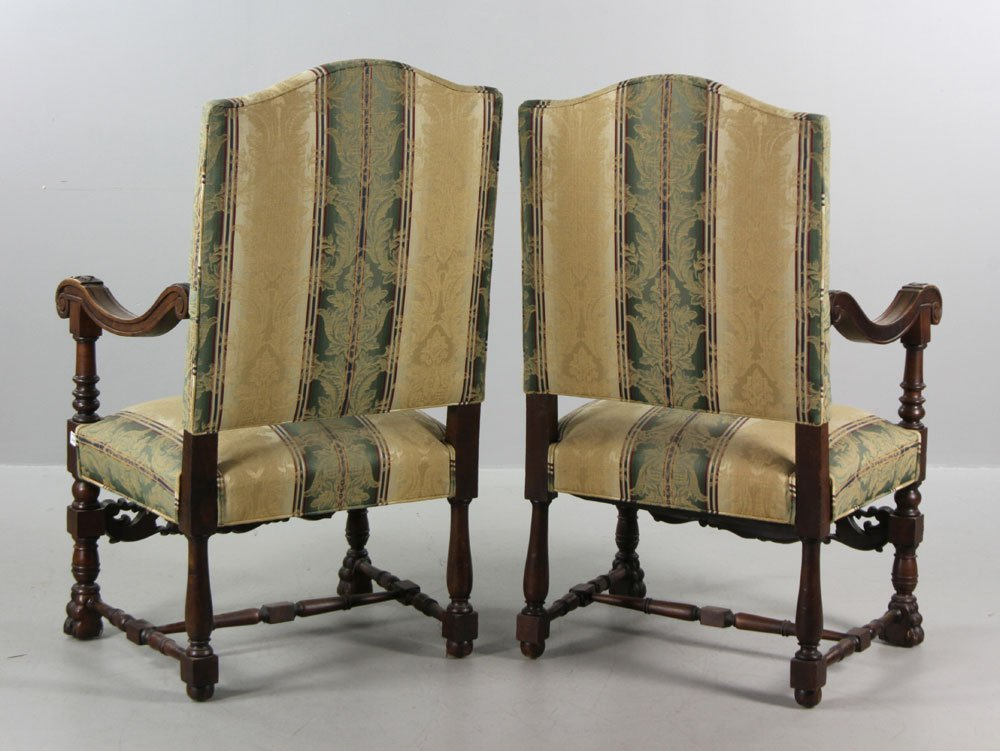 Antique Continental Armchairs - 2