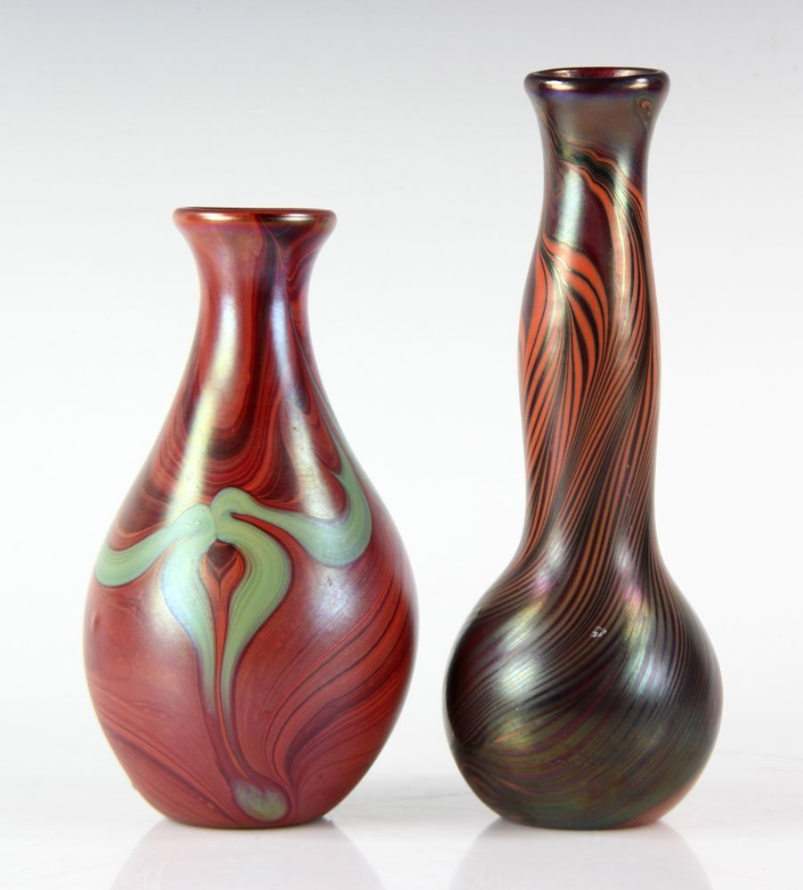 Two Lundberg Studio Glass Vases