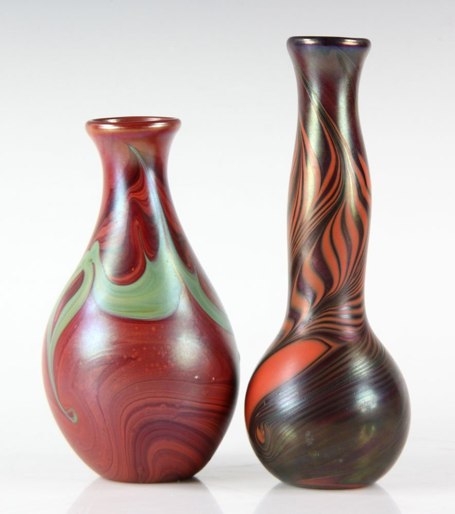 Two Lundberg Studio Glass Vases - 2