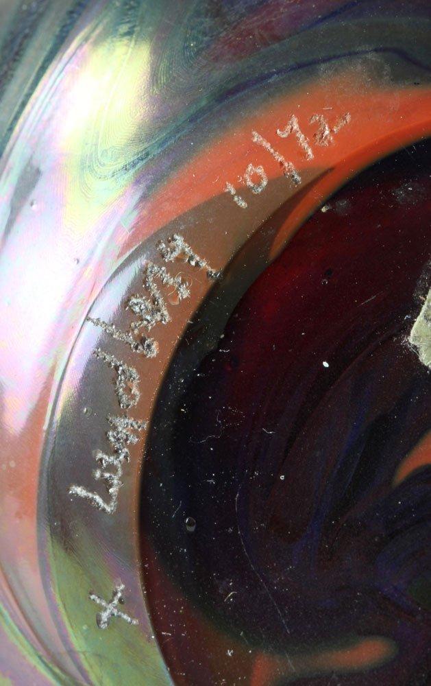 Two Lundberg Studio Glass Vases - 5