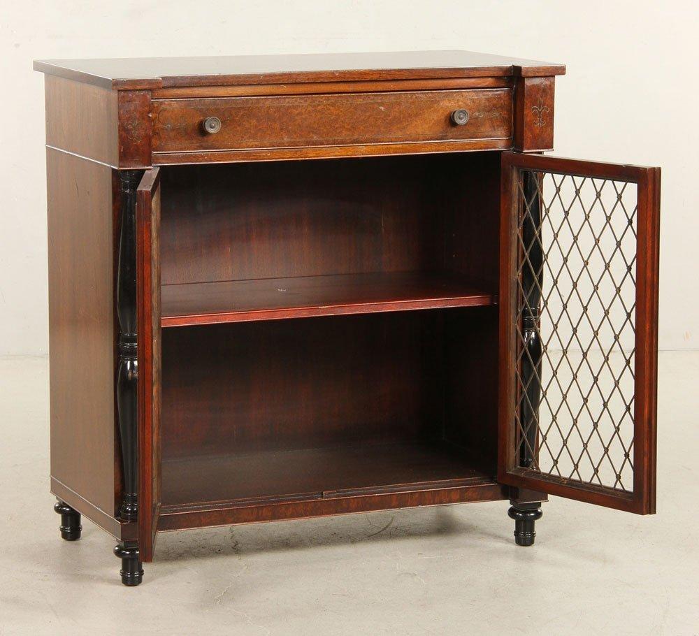 Regency Style Amboyna Burl Cabinet - 2