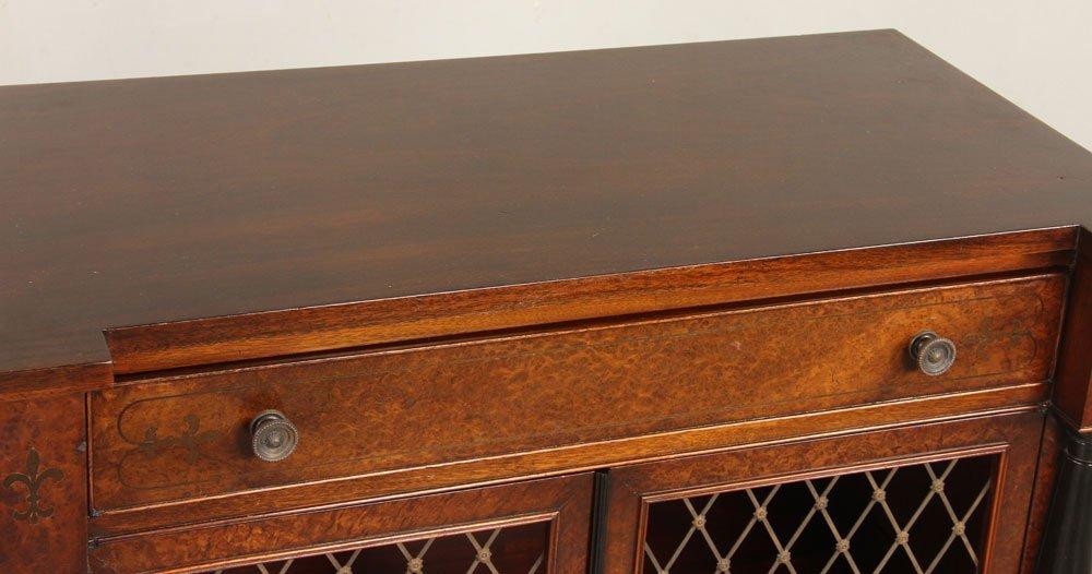 Regency Style Amboyna Burl Cabinet - 3