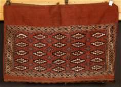 Antique Turkmen Kilim Saddle Bag