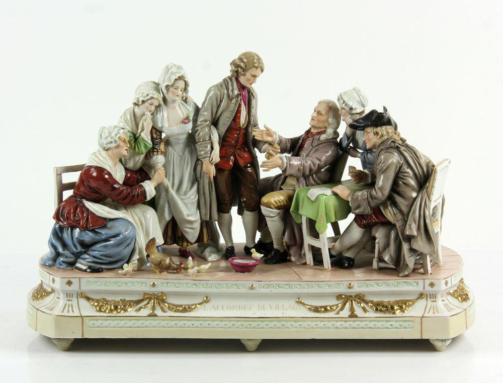 German Seven Figure Group Porcelain