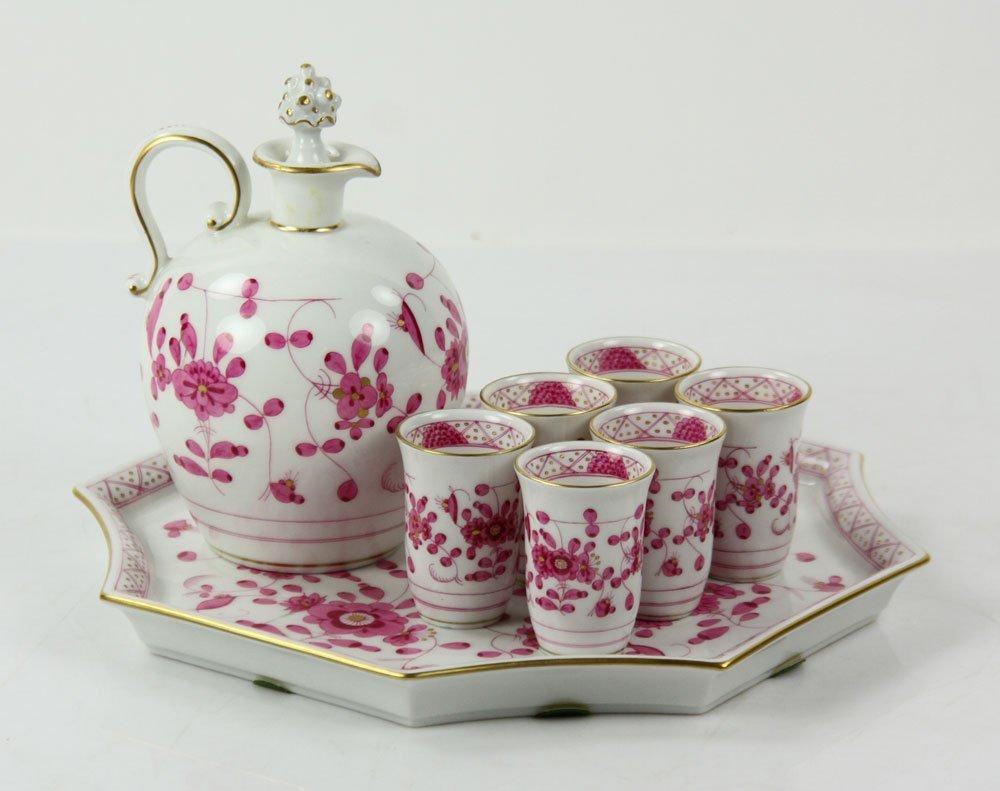 Meissen Porcelain Liquor Set