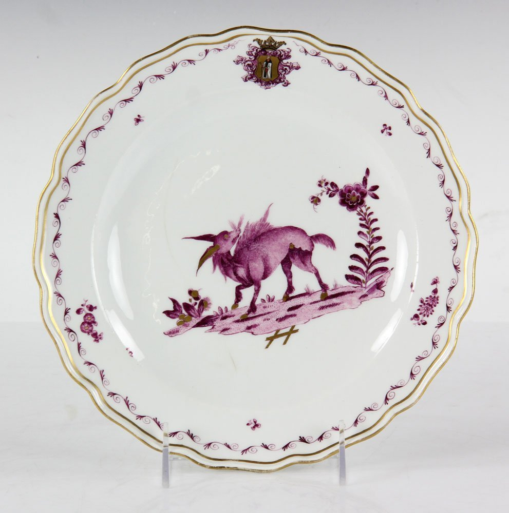 Meissen Armorial Plate