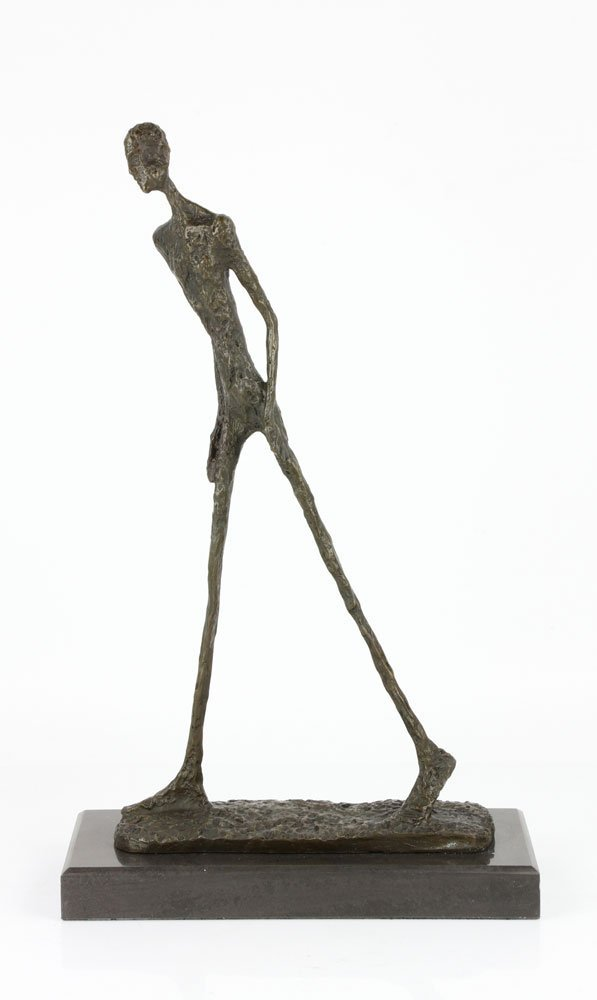 Signed Giacometti, Walking Man, Bronze