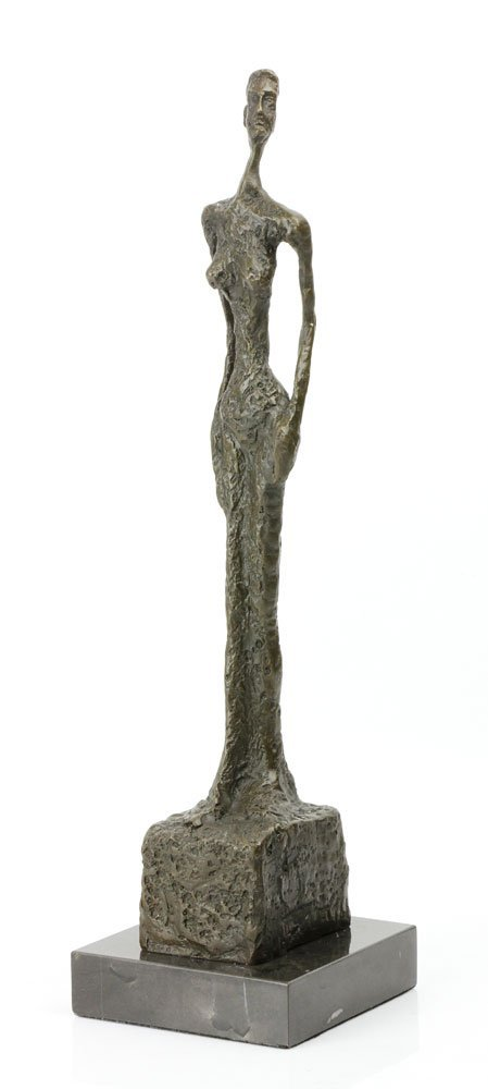 Signed Giacometti, Standing Lady, Bronze