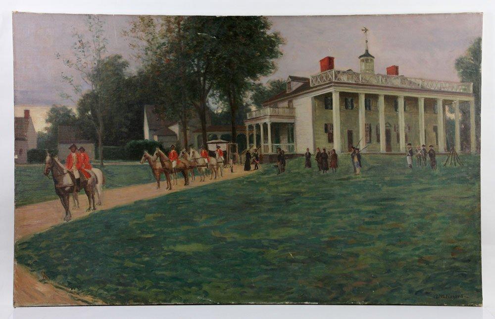 Hazard, British Encampment, Oil on Canvas