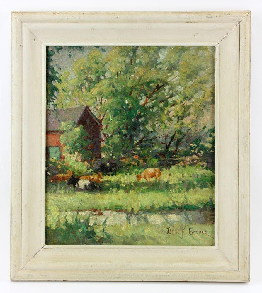 "Bonnar, ""The Back Pasture"", Oil on Artist Board"