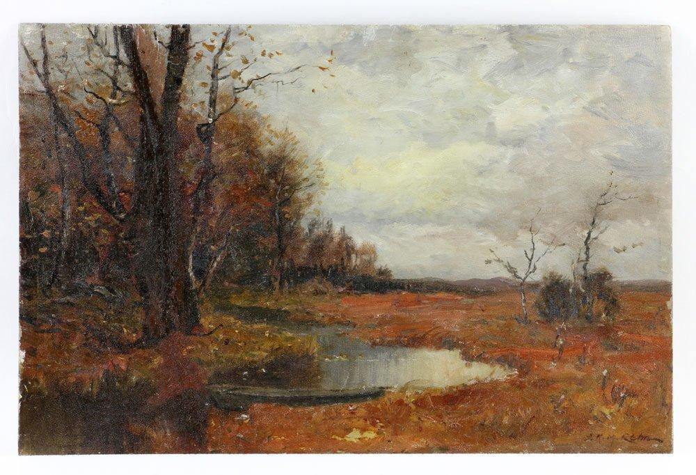 Rehn, Fall Landscape, Oil on Artist Board
