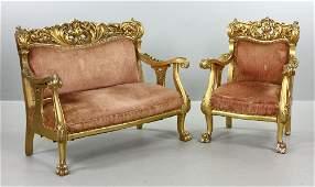 French Louis XV TwoPiece Parlor Set