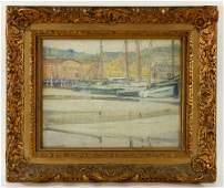"""Jane Peterson, """"Low Tide,"""" Oil on Board"""