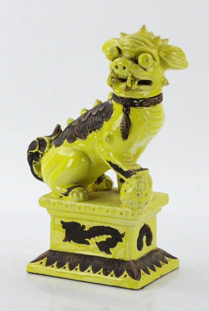 19th C. Chinese Yellow Glaze Foo Dog