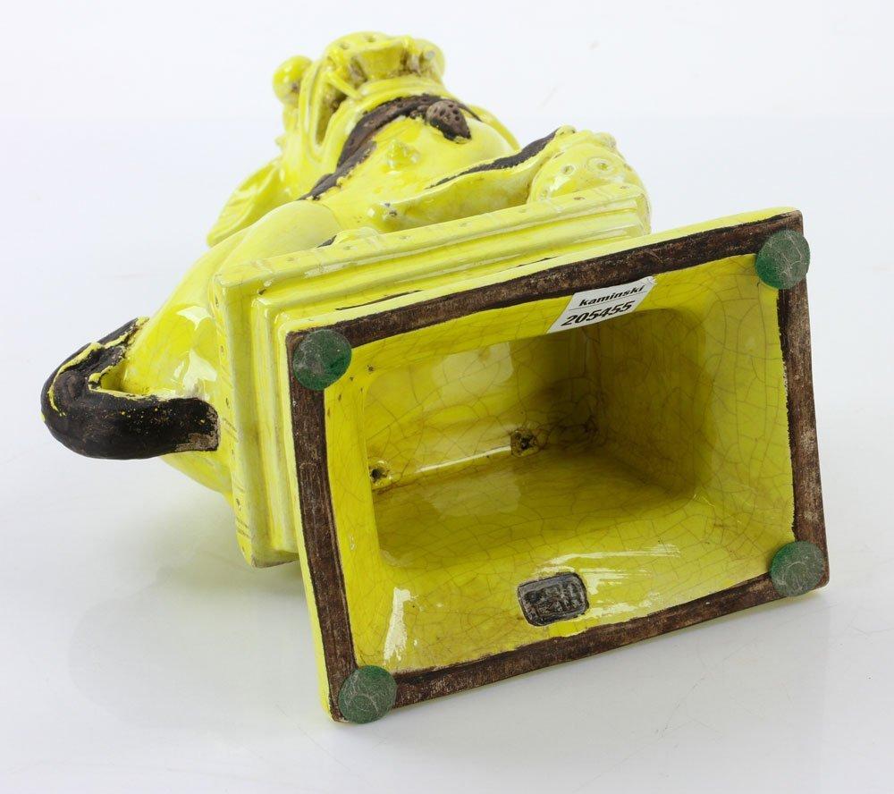19th C. Chinese Yellow Glaze Foo Dog - 7