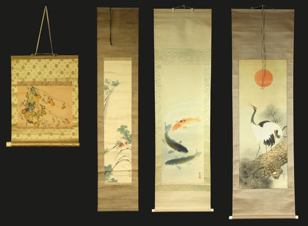 Four Japanese Scroll Paintings